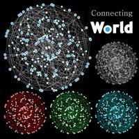 "Abstracte ""verbindende wereld"" achtergrond vector"