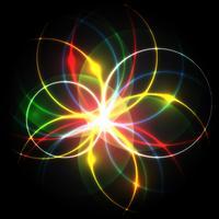 Neon eps10 bewerkbare vector bloem
