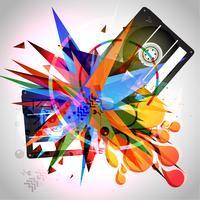 abstracte muziekachtergrond vector