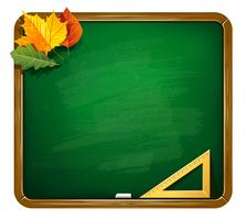 Vector groene schoolbord illustratie