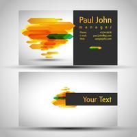Kleurrijk en elegant visitekaartjeontwerp met voorzijde en achterkant, vector