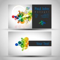 Abstracte visitekaart-voor- en achterkant