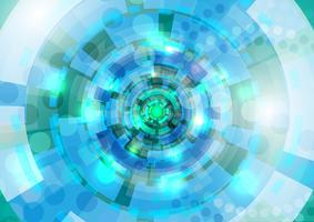 Blauwe en cyaan cirkels