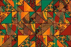 Abstract naadloos patroon met dierlijke druk. vector