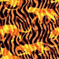 Naadloos exotisch patroon met silhouetten van dieren. vector