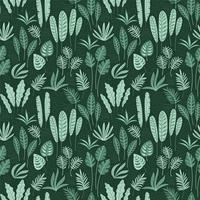 Abstract naadloos patroon met tropische bladeren. vector