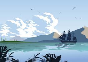 Blue Sky Ocean Achtergrond vector
