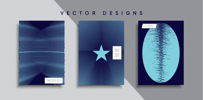 Minimale vectoromslagontwerpen. Toekomstige postersjabloon
