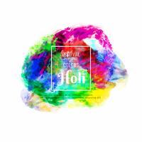 Abstracte gelukkige Holi kleurrijke festivalvieringsachtergrond
