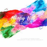 Abstracte Gelukkige Holi kleurrijke festival vectorillustratie als achtergrond
