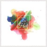 Abstracte Gelukkige kleurrijke het festival van Holi modieuze illustratie als achtergrond vector