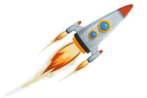 komische raket vector