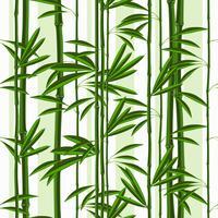 Naadloos patroon met tropische installatiesbamboe en bladeren.