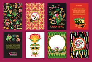 Grote reeks Carnaval-achtergronden van Brazilië. vector