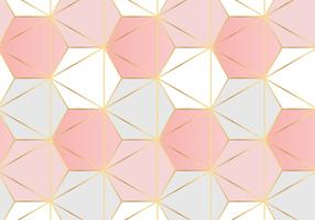 Zeshoekig patroon Rose goud achtergrond