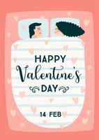 Romantische illustratie met mensen vector