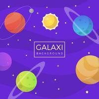 Platte paarse Galaxy achtergrond