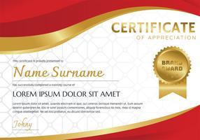 Certificaatsjabloon Vectorontwerp