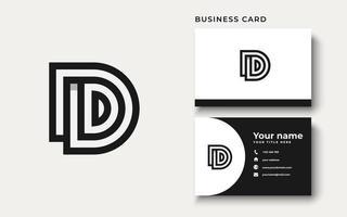 initial d logo ontwerp inspiratie vector