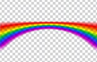 Transparante regenboog. Vector illustratie. Realistische regenboog op transparante achtergrond.