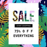 Verkoopaffiche voor winkelen, korting, detailhandel, product promotie vectorillustratie. Sjabloon voor spandoek verkoop