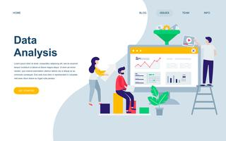 Moderne platte webpagina ontwerpsjabloon van auditing, data-analyse vector