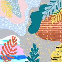Tropische jungle verlaat achtergrond. Tropisch posterontwerp vector