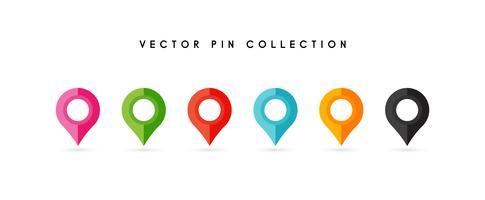 Locatie pin. Kaart pin plat pictogram vector ontwerp.