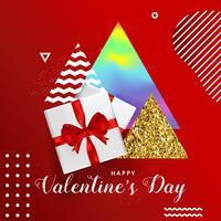 Gelukkige de typografieaffiche van de Valentijnskaartendag, romantisch vector de illustratieontwerp van de groetkaart