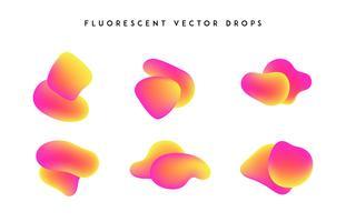 Verloop levendige vormen. Moderne abstracte kleurrijke vector vloeibare collectie.