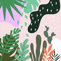 Tropische jungle verlaat achtergrond. Tropisch posterontwerp