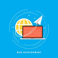Website ontwikkeling concept platte vectorillustratie