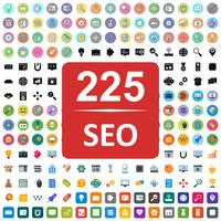 Set van Vector SEO Search Engine Optimization pictogrammen