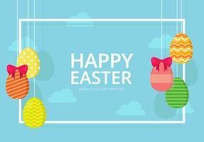 Easter Backdground. Gelukkig Pasen. vector