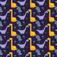 Dinosaurussen patroon Vector