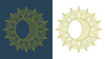 Outstanding Sun Clipart Set Vector