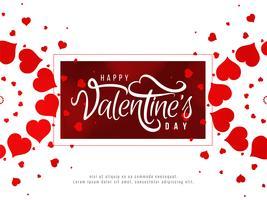 Gelukkige Valentijnsdag romantische achtergrond vector