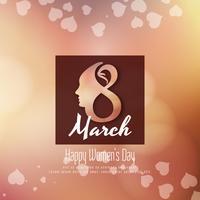 Het ontwerp van de abstracte elegante Gelukkige Vrouwendag achtergrond vector