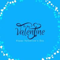 De dag elegant van gelukkige valentijnskaart ontwerp als achtergrond vector