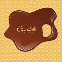 Vloeibare chocolade of bruine verf. Vector illustratie.