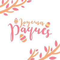 Joyeuses Pâques Typografie vector