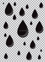 Realistische zwarte olie geïsoleerd op transparante achtergrond. Vector illustratie.