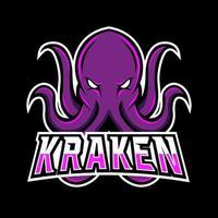 kraken octopus inktvis mascotte sport gaming esport logo sjabloon voor squad team club vector