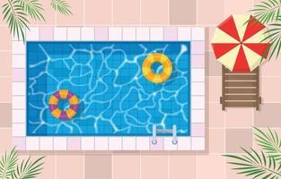zwembad van bovenaanzicht vector