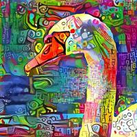 abstract impressionistisch zwanenschilderij vector