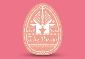 Feliz Pascua Typografie. Pasen achtergrond. Gelukkig Pasen.
