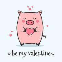 wees mijn valentijn vector