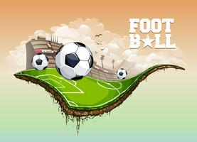 hemel voetbalveld