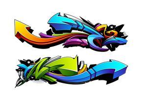 Graffiti pijlen ontwerpen vector