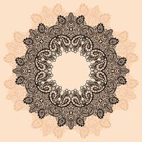 Ornament rond kant met Mandala vector